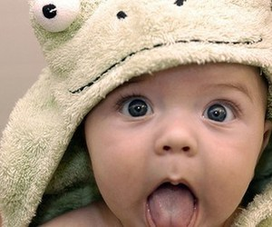 cute, baby, and frog image