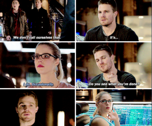 arrow, oliver queen, and stephen amell image