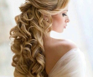 beautiful, curl hair, and pretty girl image