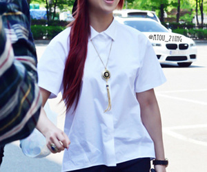 2ne1, kpop, and red hair image