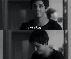 logan lerman, sad, and okay image