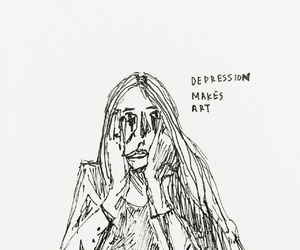 art, depression, and sad image