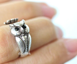 owl ring, owl, and bird ring image