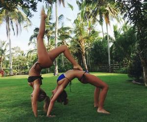 summer, friends, and bikini image