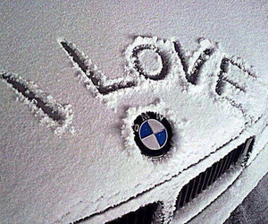 bmw, love, and snow image