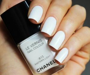 chanel, nails, and white image