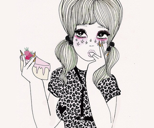 cake, girl, and pink image