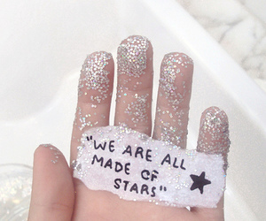 stars, glitter, and quotes image