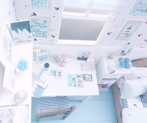 blue, pretty, and room image