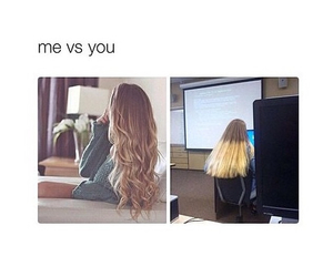 hair, funny, and me image