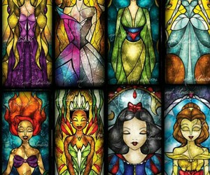 Collage, disney, and disney princesses image