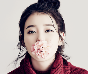iu, kpop, and flowers image