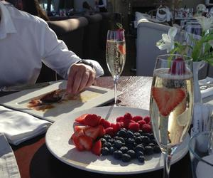 berries, brunch, and champagne image