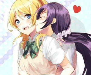 cute, anime girl, and yuri image