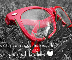 love, glasses, and heart image