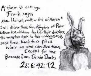 donnie darko, frank, and movie image