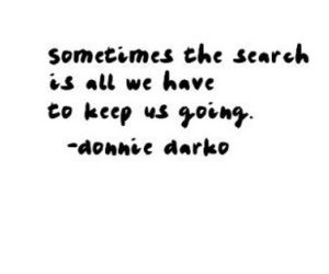 donnie darko, quote, and search image