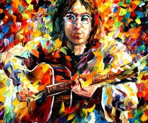 john lennon, art, and colors image