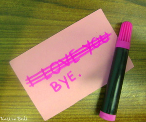 bye, note, and love image