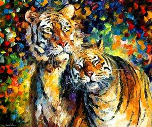 art, tigers, and leonid image
