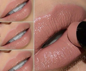 lips, lipstick, and Nude image