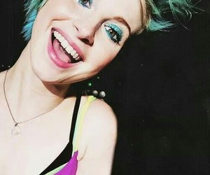 beautiful, smile, and bluehair image