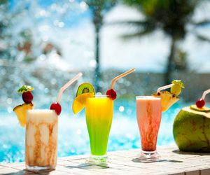beach, brasil, and drinks image