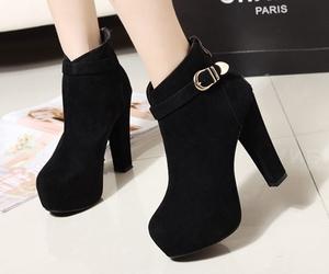 black, shoes, and elegant image