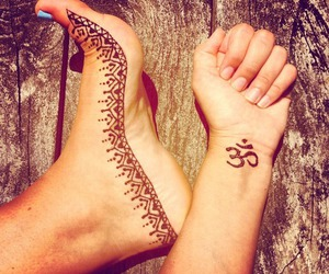 tattoo, henna, and hippie image