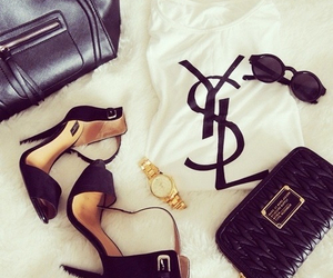 fashion, YSL, and shoes image