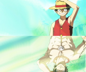 ace, anime, and luffy image