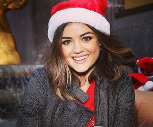 lucy hale, pll, and christmas image