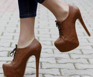shoes, heels, and brown image