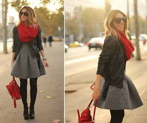 booties, dress, and fashion image