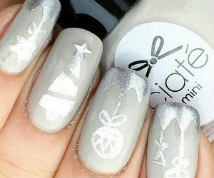 christmas, grey, and nail polish image