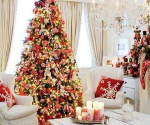 christmas, winter, and christmas tree image