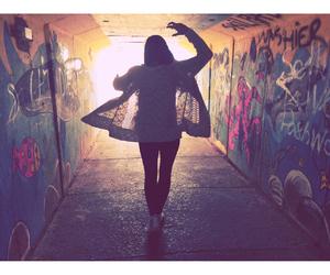 cool, girl, and walk image