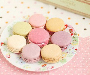 food, macaroons, and paris image