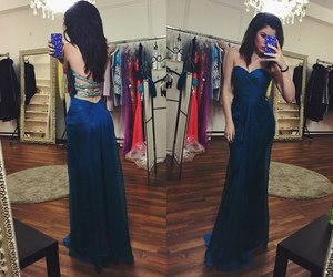 blue, hair, and dress image