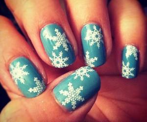 nails, winter, and snowflakes image