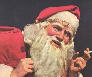 christmas, smoke, and santa christmas image