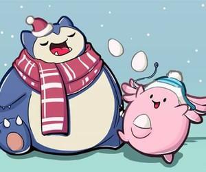 kawaii, navidad, and pokemon image
