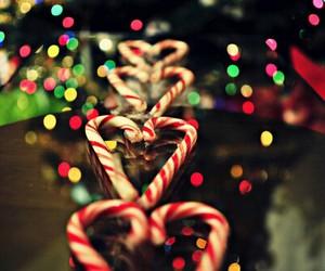 christmas, light, and candy image