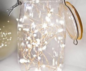 light, christmas, and jar image
