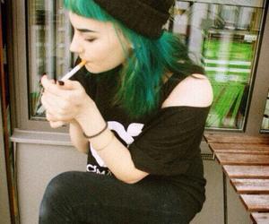 girl, grunge, and green image