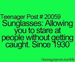 teenager post and sunglasses image