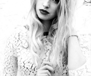 skins, freya mavor, and black and white image