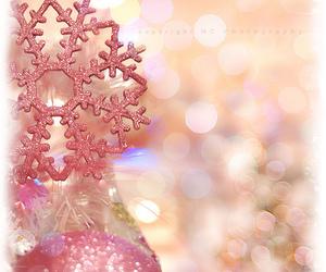 christmas, pink, and glitter image
