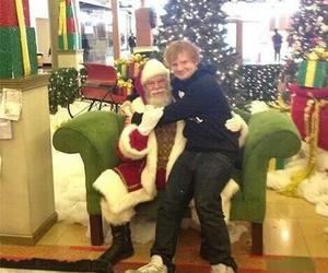 ed sheeran, christmas, and santa image