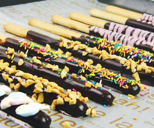 chocolate, pocky, and yummy image